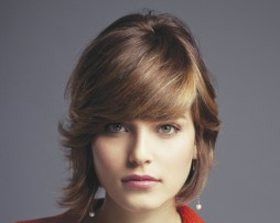 straight bob side fringes 2012 natural light brown blond hair wig