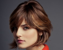 straight bob side fringes 2012 natural light brown blond hair wig side