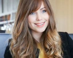 long light brown hair highlight ombre fringes bangs wavy